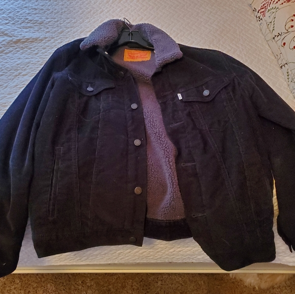 Levis sherpa corduroy trucker jacket